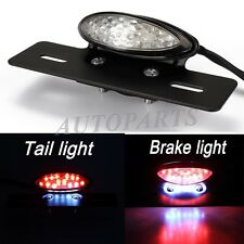 CLEAR LICENSE PLATE MOUNT HOLDER LED TAIL LIGHT FOR CHOPPER CRUISER ATV BANSHEE