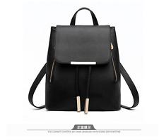 Korean Simple Casual Leather Backpack School Bag Office Bag