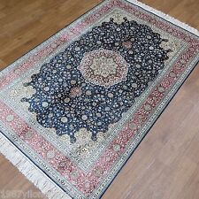 Yilong 4'x6' Classic Flowers Silk Hand Knotted Carpets Bedroom Handmade Rug 865B