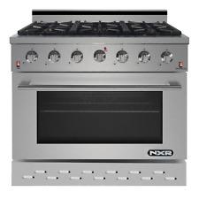 NXR SC 36 inch Gas Range 6 German Burner Cooker Oven Cooktop in Stainless Steel