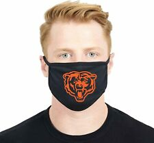 Chicago Bears Black Face Mask Washable Reusable Made in USA