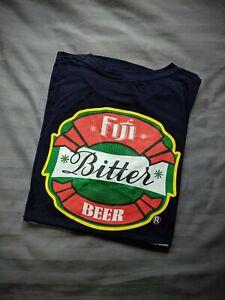 Fiji Bitter Beer Tee T Shirt Print Men's Medium Navy Blue