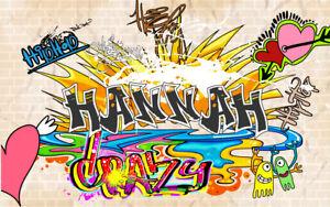 Personalised Graffiti Street Art Canvas -Your Name on Graffiti Art Canvas