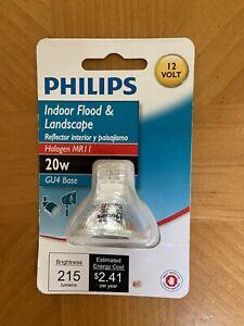 Philips 20w 12 Volt MR11 Clear Halogen Light Bulb GU4 Indoor Flood BC20MRC11 NEW