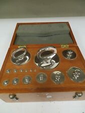 W & Le Gurley Class P Range: 1/32oz - 101lb Weight Set in Wood Case Nr63