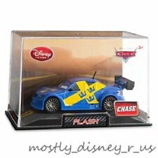 Disney Store CARS Flash Swedish Swede Cop CHASE Diecast Collector Case Replica
