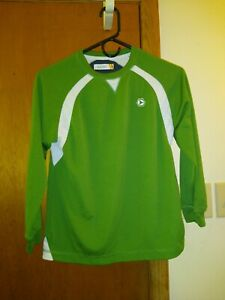 Old Navy Boys Shirt Size Medium 8 Long Sleeve Pullover Green with some white