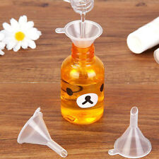 2pcs Small Plastic Funnel Clear Perfume Bottle Funnels Lot Wholesale
