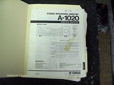 Genuine Yamaha A-1020 Integrated Amp Service Manual