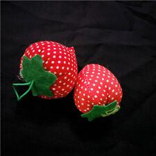 5* Strawberry Cross Stitch Needle Sewing Pin Cushion Button Safety Craft Fashion