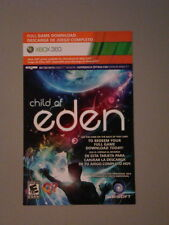 XB360 CHILD OF EDEN (2011) KINECT Game MICROSOFT Digital Download Card