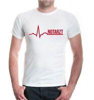 Herren Unisex Kurzarm T-Shirt Notarzt Medizin Doktor Beruf Gesundheit Hilfe Job