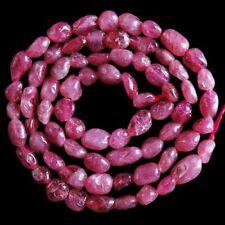 "V2521-z Red Tourmaline Loose Beads 16"""