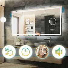 Miroir Salle de Bain Avec Éclairage LED Interrupteur | Horloge | Bluetooth | L15