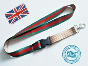 Green-red Lanyard Neck Strap for Keys ID Card Holder - W 20mm, L 52cm 1122