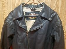 Harley Davidson Blk Leather Motorcycle Jacket - Men's Med - Harley Owners Group