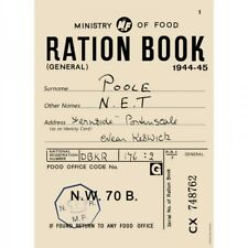Ration Book Ministry of Food Small A5 Tin Metal Steel Sign WW2 Retro