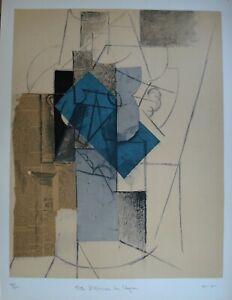 """Picasso """"Papiers Colles 1910-1914 (Tete D'homme Au Chapeau) 1966"""""""