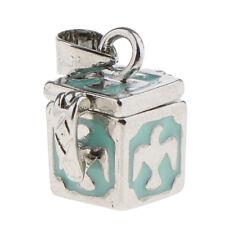 Vintage Women Men Cubic Mini Locket Urn Ash Memorial Pendant fit Necklace