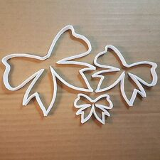 Bow Tie Ribbon Wrap Shape Cookie Cutter Dough Biscuit Pastry Fondant Sharp