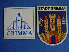 Aufkleber Grimma Stadtwappen Landkreis Leipzig in Sachsen 8,4 x 6,9 cm