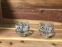Libbey Glass Silver Wheat set of 2 creamer and sugar bowl pre-owned