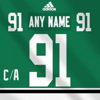 Dallas Stars Adidas  Dark Jersey Custom Any Name Any Number Pro Lettering Kit