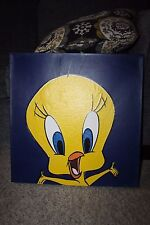"""Signed Tweety Bird 20"""" x 20 Picture from Warner bros. Studio Store Numbered 6/50"""