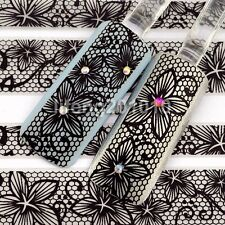 3D Black Lace Design Nail Art Stickers Decals For Nail Tips Decoration Tool YJ03