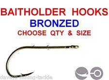 BAITHOLDER HOOKS SIZE 10 8 6 4 2 1 1/0 2/0 3/0 4/0 5/0 6/0 7/0 8/0 10 25 50 100