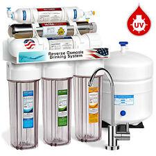 6-Stage 50 GPD UV Ultra Violet Sterilizer Reverse Osmosis RO Water System MODERN