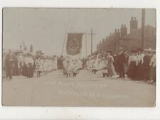 Radcliffe Whit Friday Procession Methodist New Connexion 1906 RP Postcard 388b