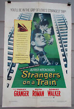 Strangers On A Train Rare Orig 1951 Alfred Hitchcock One-Sheet