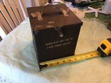 Military Radio Wireless Set No. 19 Spare Valves Tubes Case