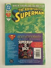 Adventures of Superman #500 & Reign Of The Supermen Poster 1993 Superman Is Back