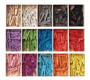 Mini Holz Wäscheklammern Holzklammer Dekoklammern 20 stück
