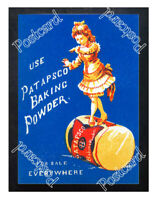 Historic Use Patapsco Baking Powder 1889 Advertising Postcard
