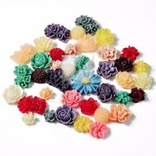 20g Mixed Clearance Resin Flatback Cabochons Cameos Vintage Flower BWRB0771