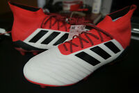 Adidas Predator 18.1 FG Men's Size 10 Red Black White Soccer Cleats NIB CM7410
