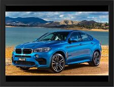 BMW X6 M NEW A3 FRAMED PHOTOGRAPHIC PRINT POSTER