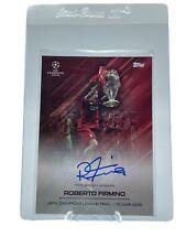 Topps Roberto Firmino ON CARD AUTO SSP Curated Set UEFA Champions O Jogo Bonito