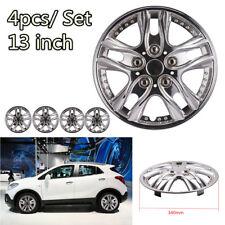 13 Inch 4pcs/set Car Vehicle Wheel Rim Skin Cover Hubcap Wheel Sliver Covers