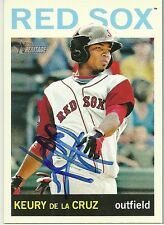 2013 Topps Heritage KEURY DE LA CRUZ Signed Card RC autograph RED SOX mariners