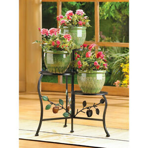 COUNTRY APPLE BRANCH 3 TIER PLANT STAND NIB - FREE SHIPPING!