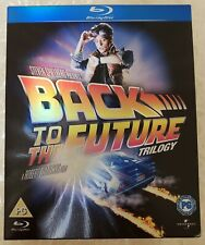 Back to the Future Trilogy 3-Disc Blu-ray set UK edition. Region Free. Like New