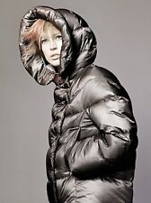 UNIQLO by Jil Sander +J Womens Brown Down Hooded Cocoon Puffer Coat Jacket XS