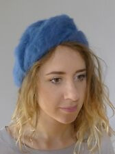 80eba856cef0c Vintage retro true 1980s Kangol blue winter hat fancy beret England