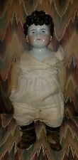 """Rare Antique Child China Shoulder Head Doll 21"""" Tall w/ 8"""" t head exposed ears"""