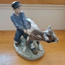 New listing Royal Copenhagen Figurine Boy With Calf Cow #772