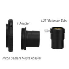 "New 1.25"" Extension Tube+M42 T-Ring Adapter+ Nikon Camera Mount Adapter Set"